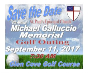St. Paul's Michael Galluccio Golf Outing on Monday, September 11th, 2017