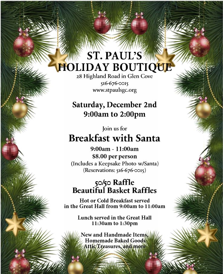 2017 St Paul S Holiday Boutique Flyer St Paul S Episcopal Church