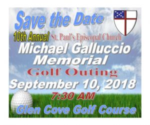 The 10th Annual St. Paul's Michael Galluccio Memorial Golf Outing is this Monday!